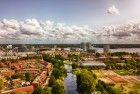 Drone view near Almere city centre