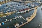 Empty Huizen marina from my drone