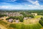 Drone panorama of Almere-Haven