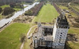 Kasteel Almere by drone