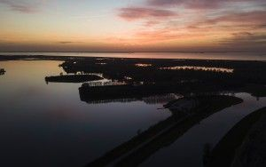 Sunset by drone