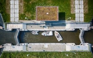 Symmetry from above at a lock