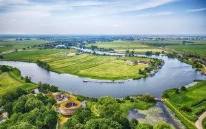Vecht river by drone