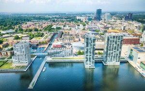 Almere city centre by drone