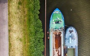 Empty boats from my drone