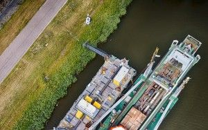 Industrial barge from my drone