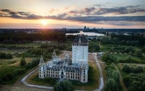 Almere Castle from my drone during sunset