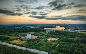 Almere from my drone during sunset