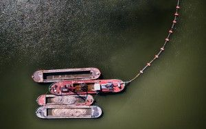 Boats from my drone