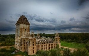 Almere Castle from my drone on a cloudy day