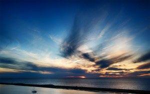 Sunset over Oostvaardersdiep, from my drone