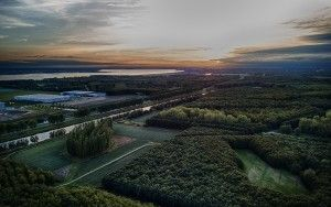De Groene Kathedraal at sunset from my drone