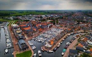 Bunschoten-Spakenburg marina by drone