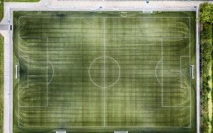Football training pitch from my drone