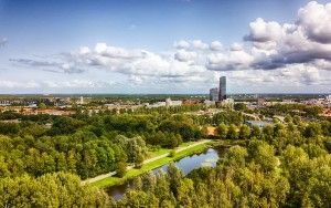 Beatrixpark and Almere city centre from my drone