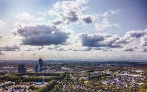 Almere city centre and Waterwijk from my drone