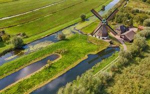 Drone picture of Windmilll de Onrust