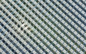Endless rows of glass from my drone