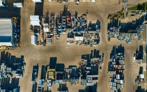 Neatly organised piles from my drone