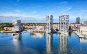 Architecture in Almere by drone
