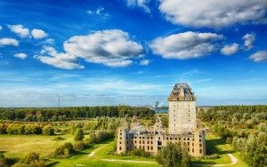 Drone picture of Almere castle