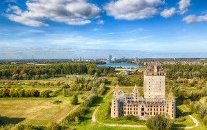Almere Castle from my drone on a nice day