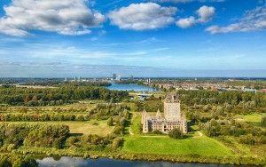 Drone overview picture of Almere castle