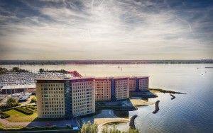 Drone picture near marina Muiderzand