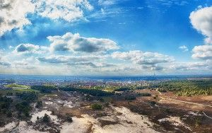 Drone panorama of Bussumerheide