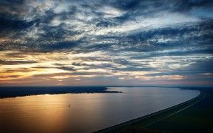Lake Gooimeer from my drone during sunset