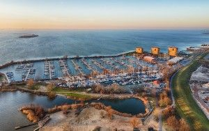Sunset picture of Muiderzand marina
