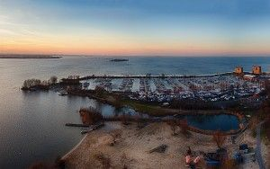 Drone panorama at Almeerderstrand