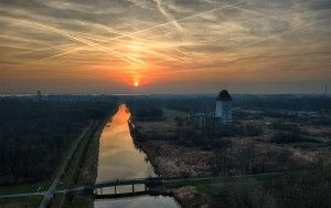 Sunset at Almere castle, as seen from my drone