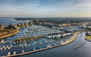 Empty Huizen marina from my drone