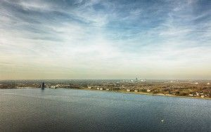 Almere-Haven and Gooimeer from my drone