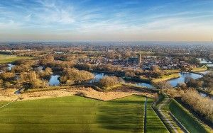Drone picture of Naarden-Vesting on a winter day
