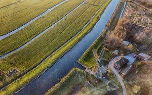 Windmill Meermolen de Onrust from above