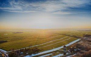 Sunny winter drone picture