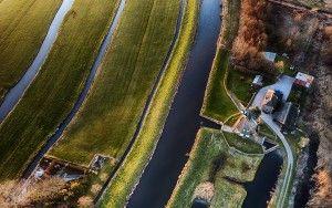 Top-down drone picture of Meermolen de Onrust