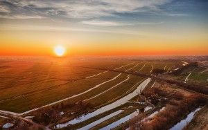 Sunset near Weesp from my drone