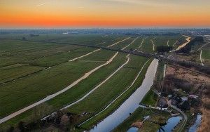 Fields near Weesp from my drone