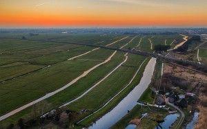 Fields near Weesp from my drone