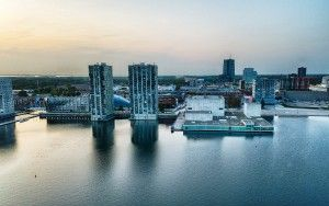 Almere city centre by drone