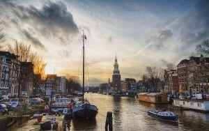 Oudeschans canal in Amsterdam
