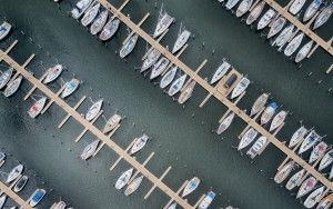 Marina Muiderzand from my drone