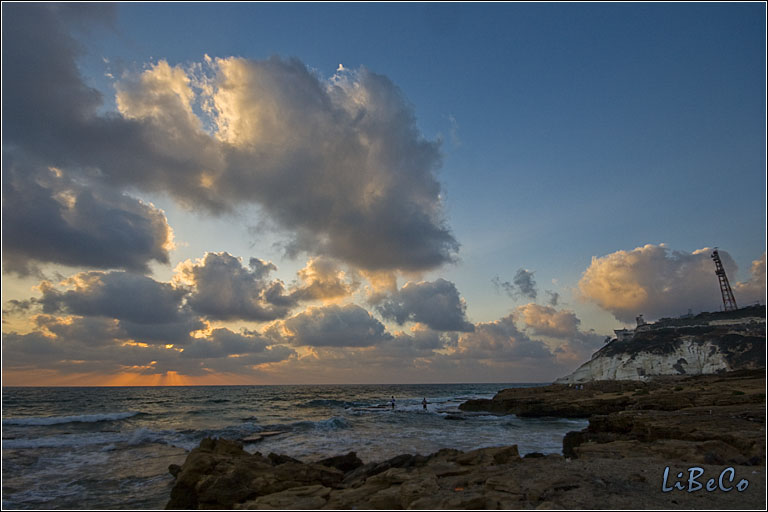 Sunset at Rosh Haniqra