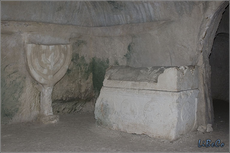 Menorah in Beit She'arim