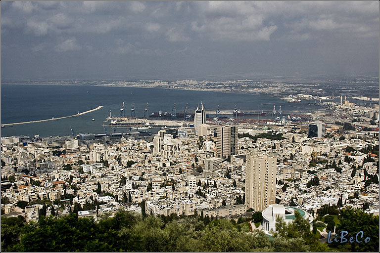 Looking down on Haifa