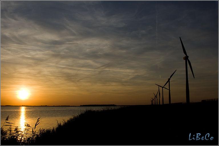 Sunset at Eemmeerdijk