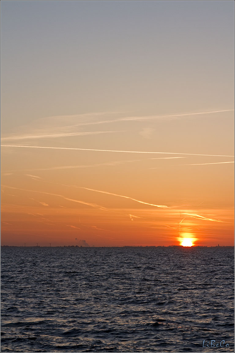 Sunset at Oostvaardersdijk